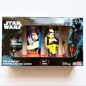 Star Wars Zak Disney Shot Glasses Set of 4